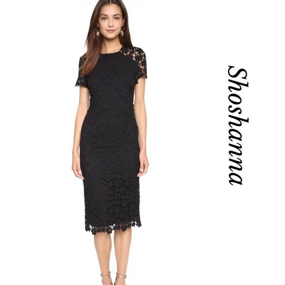 0546d60ce57e Shoshanna Dresses | Short Sleeves Lace Mini Sheath Dress | Poshmark